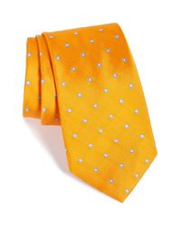 Nordstrom - Yellow Nordstrom 'ideal Neat' Dot Silk Tie for Men - Lyst