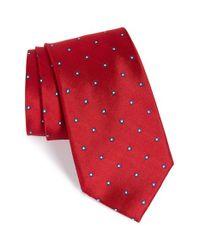 Nordstrom - Red Nordstrom 'ideal Neat' Dot Silk Tie for Men - Lyst