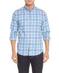 Vineyard Vines - Blue Slim Fit Murray Ocean Walk Plaid Sport Shirt for Men - Lyst