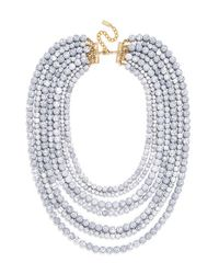 BaubleBar - Gray 'bold' Multistrand Beaded Statement Necklace - Lyst