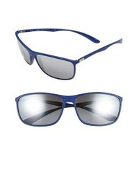 Ray-Ban | Blue 'tech Liteforce' 65mm Square Sunglasses for Men | Lyst