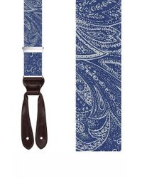 Trafalgar | Blue 'matera' Silk Suspenders for Men | Lyst