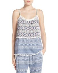 Pj Salvage - Natural Tiered Lace Camisole - Lyst
