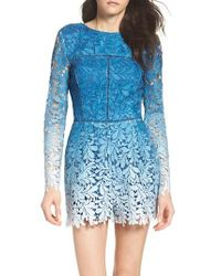 Adelyn Rae | Blue Ombre Lace Romper | Lyst