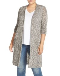 Caslon - Multicolor Caslon Open Stitch Long Cardigan - Lyst