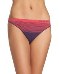 Calvin Klein - Multicolor Seamless Illusion Thong - Lyst