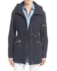 Vince Camuto | Blue Drawstring Drop Tail Jacket | Lyst