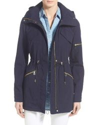 Vince Camuto   Blue Drawstring Drop Tail Jacket   Lyst