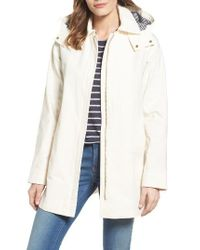 Vince Camuto | White Hooded Fly Front Stadium Jacket | Lyst
