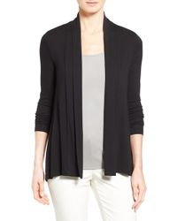 Vince Camuto | Black Open Front Cardigan | Lyst
