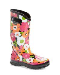 Bogs | Multicolor 'spring Flowers' Graphic Print Waterproof Rain Boot | Lyst