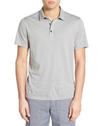 Howe - Gray 'kendall' Jersey Polo for Men - Lyst