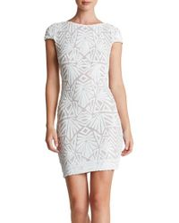 Dress the Population | White 'tabitha' Sequin Mesh Minidress | Lyst