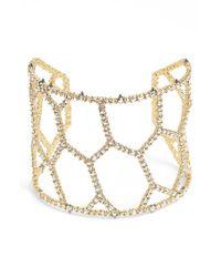 Alexis Bittar | Metallic 'miss Havisham' Crystal Honeycomb Cuff | Lyst