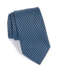 Eton of Sweden | Blue Geometric Silk Tie for Men | Lyst
