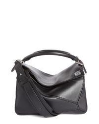 Loewe | Black 'mini Puzzle' Calfskin Leather Bag | Lyst