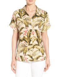 Tommy Bahama - Multicolor 'beau Jardin' Print Silk Boyfriend Shirt - Lyst