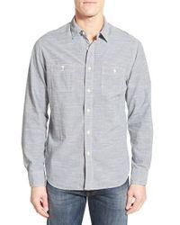 Grayers | Blue 'workshirt' Trim Fit Stripe Sport Shirt for Men | Lyst