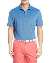 Vineyard Vines - Blue 'hanover' Stretch Pique Polo for Men - Lyst