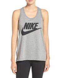 Nike - Gray 'signal' Jersey Tank - Lyst
