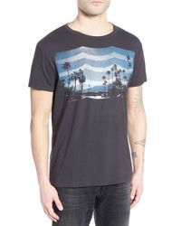 Sol Angeles - Gray 'daydream Waves' Graphic Crewneck T-shirt for Men - Lyst