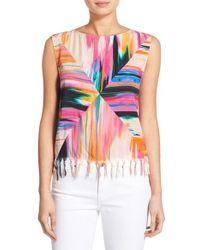 Plenty by Tracy Reese - Multicolor Tassel Hem Sleeveless Top - Lyst