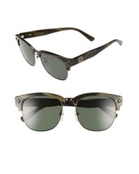 MCM - Natural 55mm Retro Sunglasses - Shiny Dark Gunmetal/ Khaki - Lyst