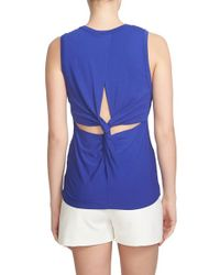 1.STATE - Blue Twist Back Tank - Lyst