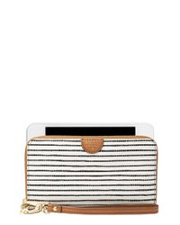Fossil - Brown 'sydney' Zip Phone Wallet - Lyst