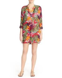 Tommy Bahama | Multicolor 'remi' Print Chiffon Cover-up Tunic | Lyst