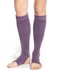 Yummie By Heather Thomson - Purple Cutout Leg Warmers - Lyst