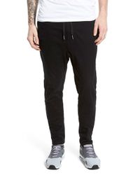 Zanerobe | Black 'salerno' Stretch Woven Jogger Pants for Men | Lyst