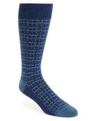Calibrate | Blue Dot Stripe Socks for Men | Lyst