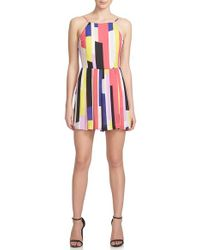 1.STATE - Multicolor Geo Pleat Front Romper - Lyst