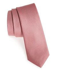 Calibrate | Pink Seattle Textured Silk Tie for Men | Lyst