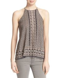 Soft Joie | Black 'Gillett' Ikat Print Sleeveless Top | Lyst