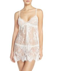 Jonquil | White Chantilly Lace Chemise | Lyst
