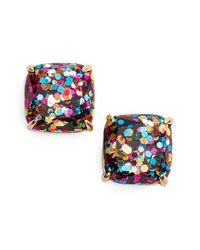 kate spade new york | Multicolor Mini Small Square Stud Earrings | Lyst