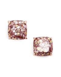 kate spade new york - Multicolor Mini Small Square Stud Earrings - Lyst