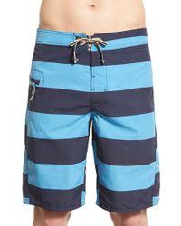 Patagonia - Blue 'wavefarer' Print Board Shorts for Men - Lyst
