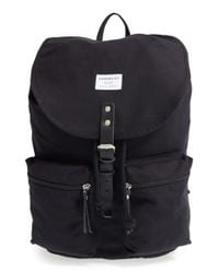 Sandqvist - Black 'roald' Canvas Backpack - Lyst