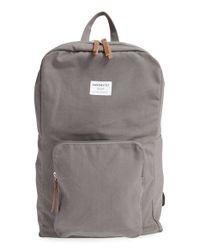 Sandqvist - Gray 'kim' Canvas Backpack - Lyst