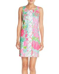 Lilly Pulitzer - Pink Cathy Print Cotton Dress - Lyst