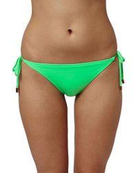 TOPSHOP - Green Braided Ties Bikini Bottoms - Lyst