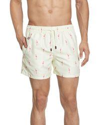 Nikben - Natural 'flamingo' Swim Trunks for Men - Lyst