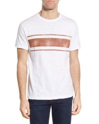 Todd Snyder - White '3 Stripes' Graphic T-shirt for Men - Lyst