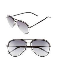 Marc Jacobs - 54mm Aviator Sunglasses - Shiny Black for Men - Lyst