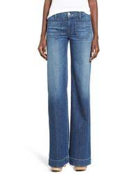 Hudson Jeans - Blue 'libby' Wide Leg Sailor Jeans - Lyst
