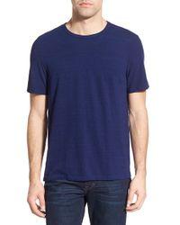 Michael Stars - Blue Crewneck T-shirt for Men - Lyst