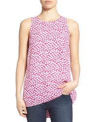 Vince Camuto - Pink High/low Sleeveless Blouse - Lyst